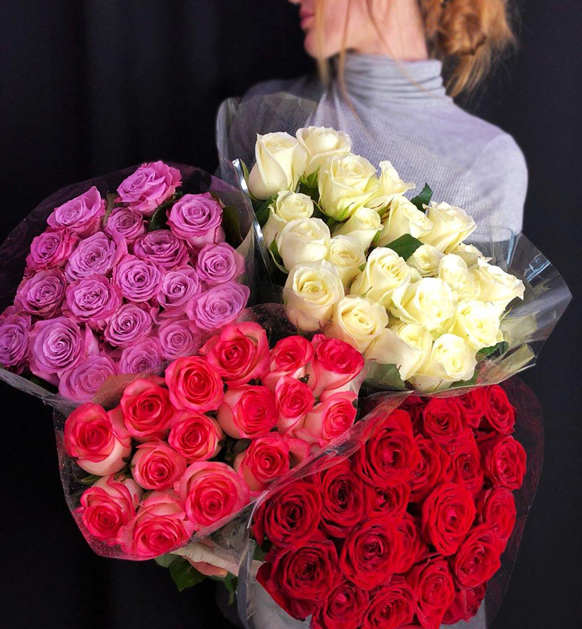 Розы россыпью