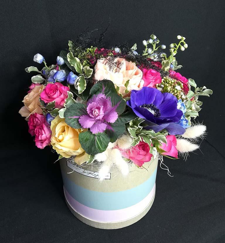 Коробка шляпная цветочная «Мистраль»