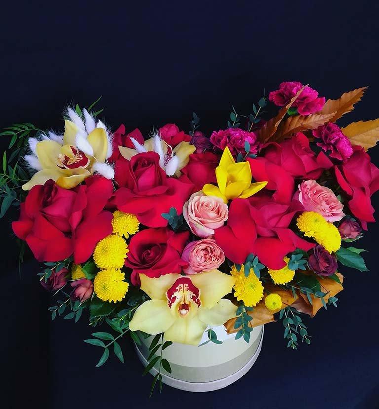 Коробка шляпная цветочная «Монакко»
