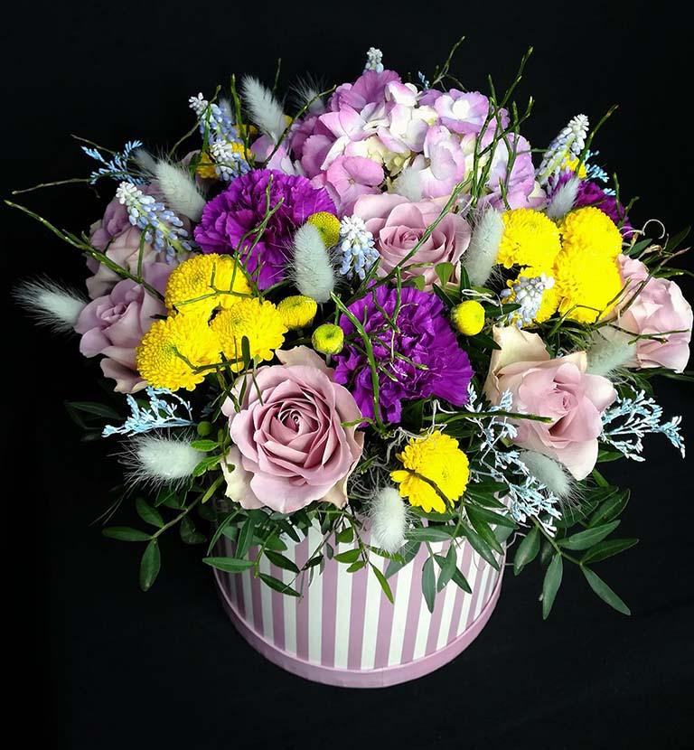 Коробка шляпная цветочная «Лилит»