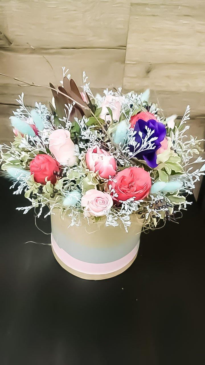 Коробка шляпная цветочная «Винтаж»