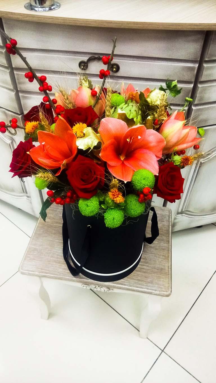 Цветочная шляпная коробка «Ферум»