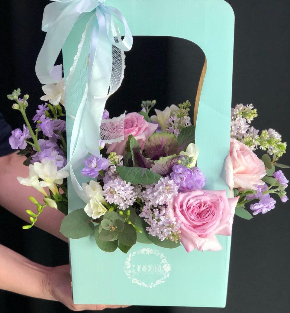 Коробка цветочная Тиффани